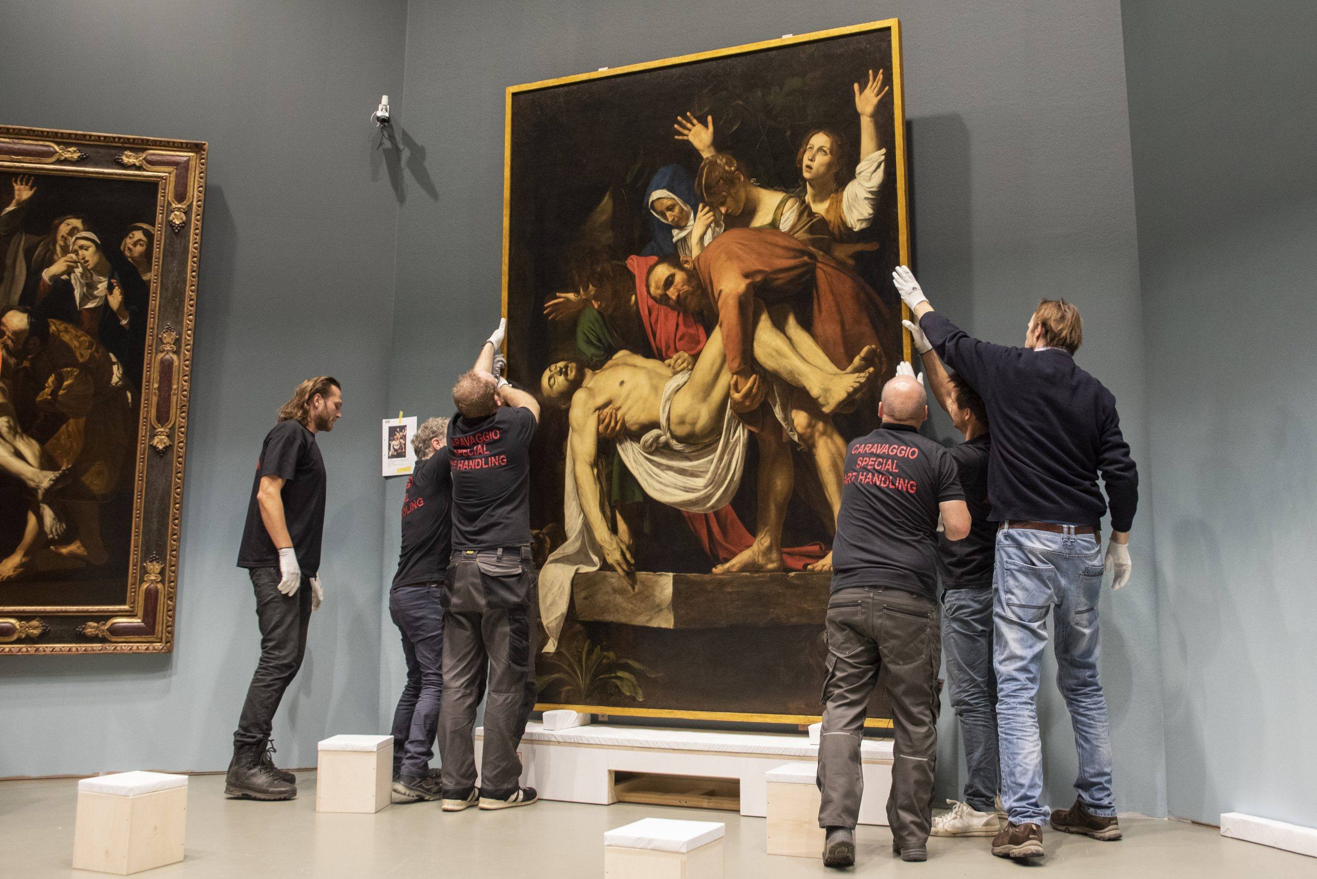 Caravaggio, graflegging van Christus, Centraal Museum Utrecht, schilderij,